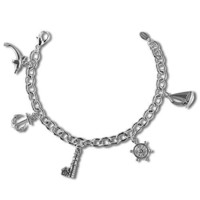 Anchor's Away: The Nautical Charm Bracelet with Sailboat, Anchor, Ship's Wheel, Lighthouse and Dolphin