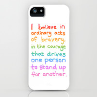 Ordinary Acts of Bravery - Divergent Quote iPhone & iPod Case by Tangerine-Tane | Society6