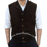 Chris Pratt The Magnificent Seven Suede Leather Vest - Desert Leather