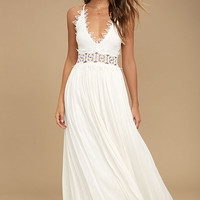 This is Love White Lace Maxi Dress