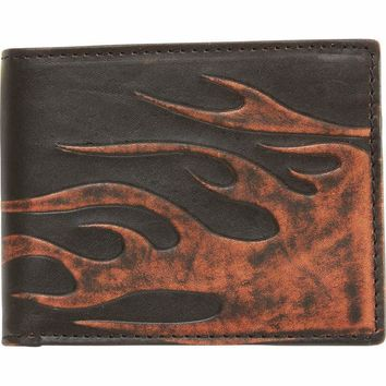 Solid Genuine Leather Biker Wallet