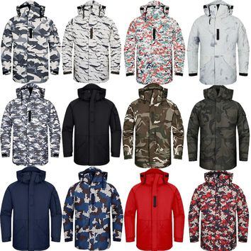 "New Premium ""SouthPlay"" Winter Season Waterproof 10,000mm Warming Ski & Snowboard White Sand Army Military Jackets"