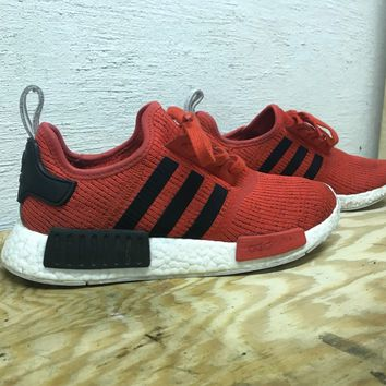 Adidas NMD R1 Mens Size 8 Shoes Red and Black Athletic Boost Sneakers