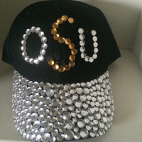 Rhinestone Baseball Cap, customize your own logo