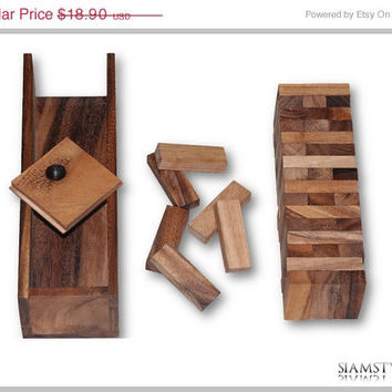 On Sale Wooden Blocks size M, building blocks and guestbook with blocks of Samena wood