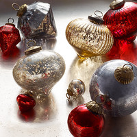 Vintage Handblown Glass Ornament Collection - Gold