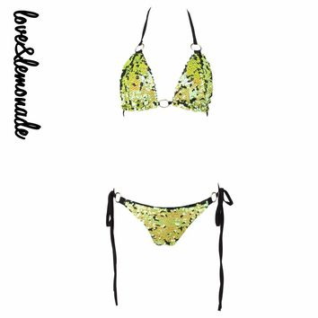 Love&Lemonade Sexy  Lemon GreenSymphony Sequin Irons sets LM0050