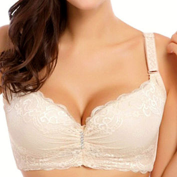 3/4 cup lace push up bra large size sexy women underwear thin section cup C cup D cup E bra for women