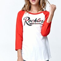 T-Shirt - Womens Tee - White Red