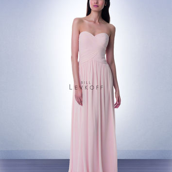 Bill Levkoff Long Chiffon Bridesmaid Dress 982