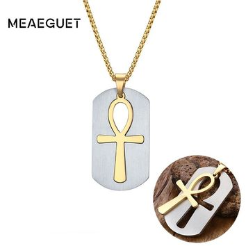 Meaeguet Ankh Removable Cross Necklace&Pendants Egyptian Men Jewelry The Symbol of Life Cross Jewelry