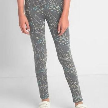 GapKids | Disney Tinker Bell Soft Terry Grey Leggings Girl Size:10