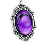 Gothic Victorian Purple Stone Vampire Necklace Jewelry