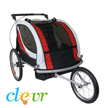 Clevr Premium Child Bicycle Trailer Baby Bike Kid Jogger Red Running Carrier