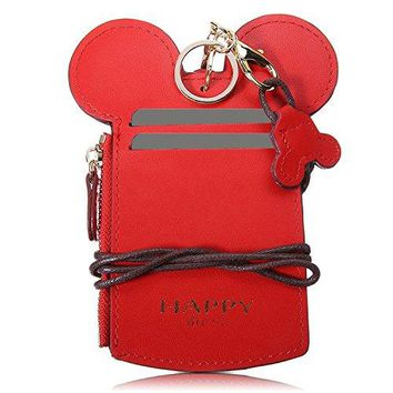 Kyerivs Cute Neck Wallet Credit Card Holder Zipper Pouch For Kids and Women