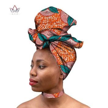 Ankara Fabric Necklace and Head Scarf Exotic Colors