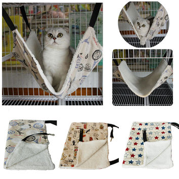 Pet Home Warm Soft Polyester Comfortable Pet Rat Rabbit /Cat Cage Hammock Small Dog Bed Cover Bag #86720