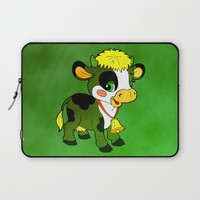 Childhood Cow Laptop Sleeve by Texnotropio