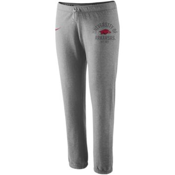 Nike Arkansas Razorbacks Ladies Rally Fleece Pants - Ash