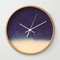 Star drops Wall Clock by Printapix