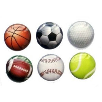 Sports - 6 Piece Home Button Stickers for Apple iPhone, iPad, iPad Mini, iTouch