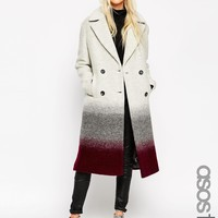 ASOS TALL Coat In Oversized Fit in Ombre at asos.com