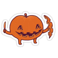 'Halloween slice of life' Sticker by Randyotter