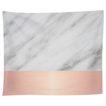 Pale Pink on Marble Tapestry