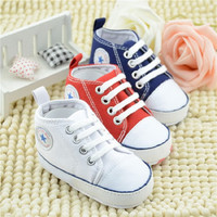 Baby Shoes Soft Non Slip Bottom Toddler Shoes Baby Cotton Fabric First Walkers For Baby Boy Girl
