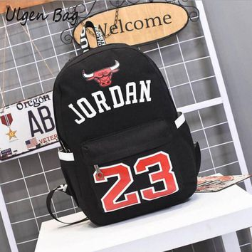 Hot Sale Jordan 23 Men Backpacks Fashion Star bags Canvas Schoolbags for Teenager Boys
