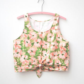 Floral Tie-Front Tank