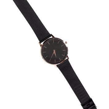 Matte Black Mesh Watch