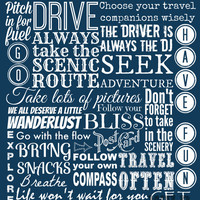 Travel Rules, Digital Art Print, Instant Download, Blue Printable Art, Popular Travel Quote, Fun Apartment Decor,  DIY Travel Poster, Gift