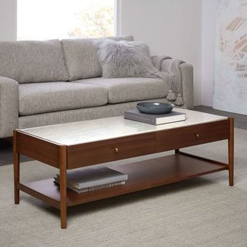 Robbins Mid-Century Storage Coffee Table