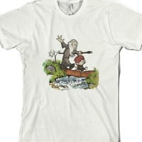 A Wizard and a Hobbit-Unisex White T-Shirt