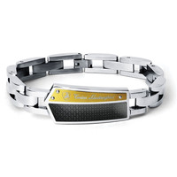 Energia Stainless Steel and Carbon Fiber Bracelet