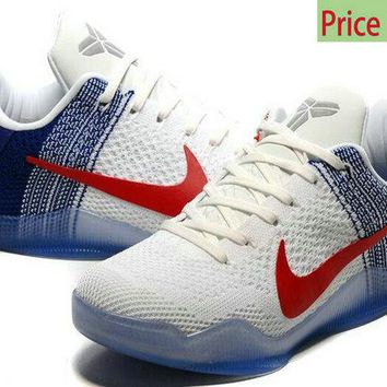 fashion shoes 2018 Kobe 11 XI Elite USA Olympics 2016 Rio White Navy sneaker