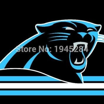 NFL Carolina Panthers with Three Lines Flag Banner 3x5FT 90x150CM New Polyester, free shipping