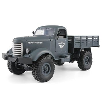 JJRC Q61 RC Cars Remote Control Car Toys 1:16 2.4g Remote Control 4WD Tracked Off-Road Military Truck Car RTR Remote Control Car