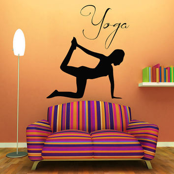 Yoga Wall Decals Fitness Exercise From Walldecalswithlove