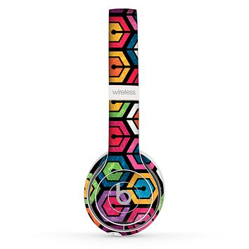 The Colorful Vibrant Hexagons Skin Set for the Beats by Dre Solo 2 Wireless Headphones