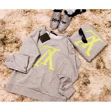 Louis Vuitton LV Women Round Neck Top Sweater Pullover Sweatshirt