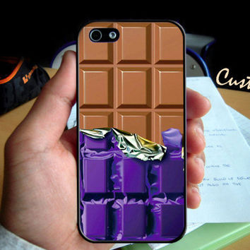 Chocolate Charlie Wonka Bar   - Photo Hard Case design for iPhone 4/4s Case, iPhone 5 Case, Black or White ( Choose Option )