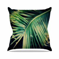 "Angie Turner ""Palm Frond"" Green Nature Throw Pillow"