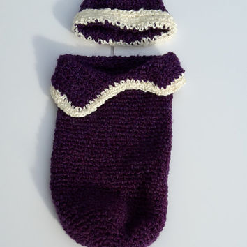 Crochet Cocoon, Baby Cocoon, Baby Cacoon, Purple Cocoon, Baby Girl Cocoon, Newborn Cocoon, Infant Pod, Baby Pouch, Photo Prop