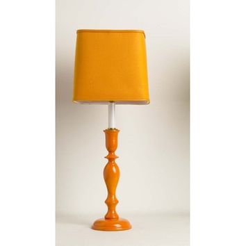 Yessica's Collection Orange Lamp With Orange Square Shade