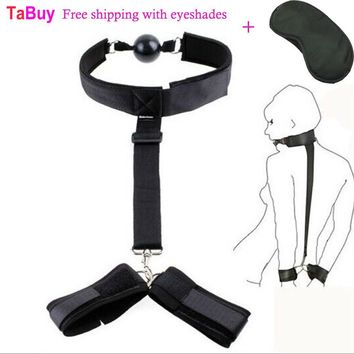 Tabuy Sexy Restraints bdsm Restraint HandCuffs Gagged Ball Sex Products Bondage Adult Games sex toys for Couple