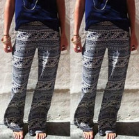 Multi Color Geometric Printed Pants