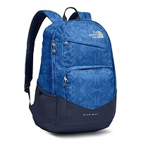 Wise Guy Backpack in Turkish Sea Metric Mountain Print & Cosmic Blue by The North Face