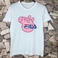 FILA Pigpage Cartoon Adult Short Sleeve T-Shirt Men and Women Lovers Tops F-CN-CFPFGYS